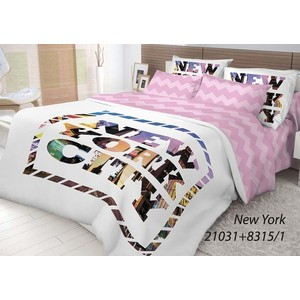 Комплект постельного белья Волшебная ночь 1,5 сп, ранфорс, New York с наволочками 50x70 (702180)