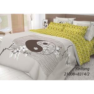 Комплект постельного белья Волшебная ночь Евро, ранфорс, Yin Yang с наволочками 50x70 (702273)  недорого