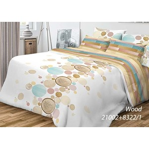 Комплект постельного белья Волшебная ночь 1,5 сп, ранфорс, Wood с наволочками 50x70 (701952)