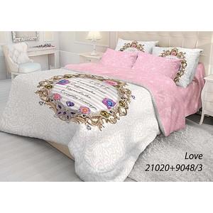 Комплект постельного белья Волшебная ночь 1,5 сп, ранфорс, Love с наволочками 70x70 (702106)