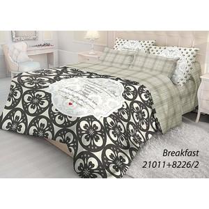 Комплект постельного белья Волшебная ночь 1,5 сп, ранфорс, Breakfast с наволочками 50x70 (702114)