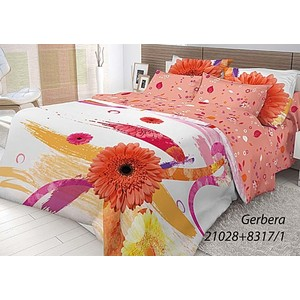 Комплект постельного белья Волшебная ночь 1,5 сп, ранфорс, Gerbera с наволочками 70x70 (702201)