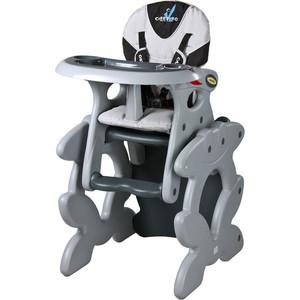 Стульчик для кормления Caretero и столик Primus Grey (серый)