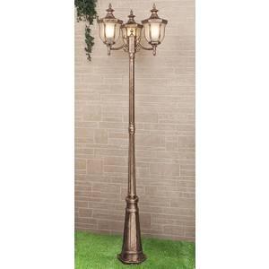 Уличный фонарь Elektrostandard Taurus F/3 черное золото elektrostandard светильник на столбе elektrostandard taurus f 3 малахит арт glxt 1458f 3 4690389065057