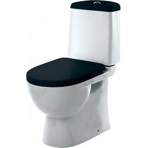 Унитаз SANITA LUXE Best Color с сиденьем микролифт, черно-белый (SL900305) цены