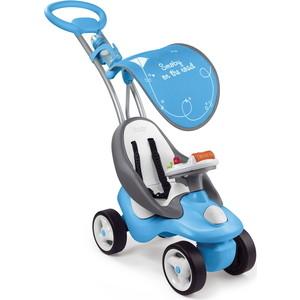 Каталка трансформер Smoby Bubble Go Neo, синяя, со звуком smoby каталка качалка трансформер из серии maestro