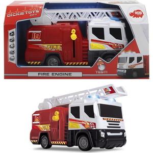 Пожарная машина Dickie со светом и звуком, 30см мусоровоз со светом и звуком 30см dickie toys