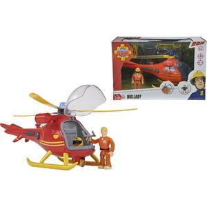 Набор Simba Пожарный Сэм, Вертолет со светом, звуком, акс. + фигурка, 24см квадроцикл simba пожарный сэм меркурий со светом фигурка и акс 11 16 12см