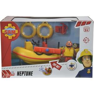 Игровой набор Simba Пожарный Сэм, Лодка спасателей с акс. + фигурка, 20см игровой набор simba пожарный сэм большая тренировочная база с фигуркой и акс 42см