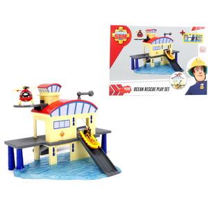 Морской гараж Dickie Пожарный Сэм, +лодка dickie toys пожарный сэм пожарный гараж