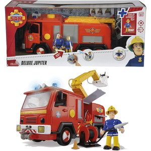 Пожарная машина Simba Пожарный Сэми+ 2 фигурки, со светом и звуком, 28см фигурки игрушки союзмультфильм пластизоль гена со светом и звуком