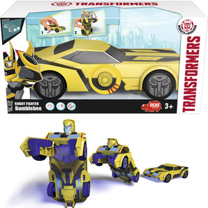 Машинка-трансформер Dickie Bumblebee со светом и звуком, 15см dickie toys машинка bumblebee tin box