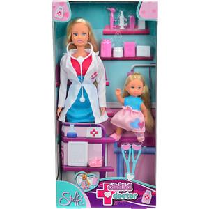 Набор кукол Simba Штеффи - детский доктор и кукла Еви, 29 см, 12 см куклы и одежда для кукол simba кукла штеффи детский доктор