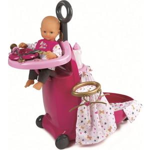 Набор Smoby для кормления и купания пупса в чемодане Baby Nurse, 24х60,5х47 см