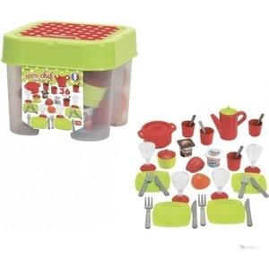 Набор посудки Ecoiffier в коробке, 36 предметов ecoiffier игровой набор конструктор гоночный трек 94 элемента