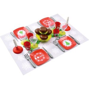 Набор посудки Ecoiffier С Новым Годом, 24 предмета игровые наборы ecoiffier игровой набор вафельница 22 предмета