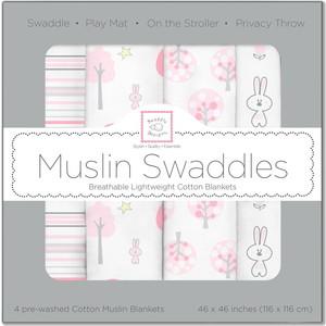 Набор муслиновых пеленок SwaddleDesigns 4 шт. - Pink Thicket