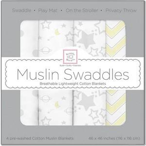 Набор муслиновых пеленок SwaddleDesigns 4 шт. - Sterling Starshine