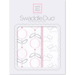 Набор пеленок SwaddleDesigns Swaddle Duo Pink Little Doggie