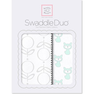 Набор пеленок SwaddleDesigns Swaddle Duo SeaCrystal Little Fox набор пеленок swaddledesigns swaddle duo seacrystal little fox