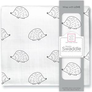 Пеленка муслиновая SwaddleDesigns Black Hedgehog
