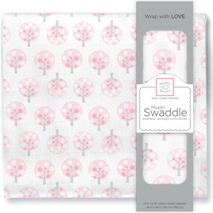 Пеленка муслиновая SwaddleDesigns Pink Spot Tree conn iggulden fig tree