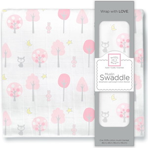 Пеленка муслиновая SwaddleDesigns Pink Thicket