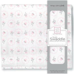 Пеленка муслиновая SwaddleDesigns Pstl Pink Posies бандана нагрудник swaddledesigns муслиновая pink french dots sdm 541pp
