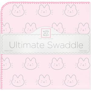 Пеленка фланель для новорожденного SwaddleDesigns Ultimate Bonjour Bunnie Pink [wamami] 55 pink 1 4 msd dod bjd dollfie high heels synthetic leather shoes