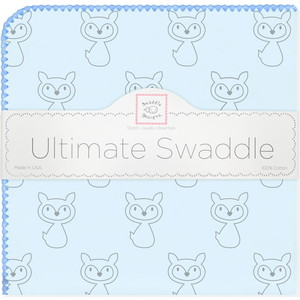 Пеленка фланель для новорожденного SwaddleDesigns Ultimate Gray Fox Blue ultimate sticker book kitten