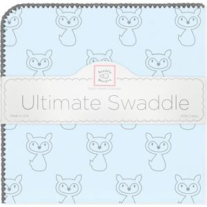 Пеленка фланель для новорожденного SwaddleDesigns Ultimate Gray Fox Pstl Blue фланелевая пеленка swaddledesigns для новорожденного pink chickies sd 162p
