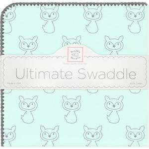 Пеленка фланель для новорожденного SwaddleDesigns Ultimate Gray Fox Pstl SeaCrystal