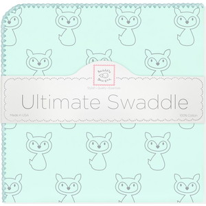 Пеленка фланель для новорожденного SwaddleDesigns Ultimate Gray Fox SeaCrystal ultimate sticker book kitten