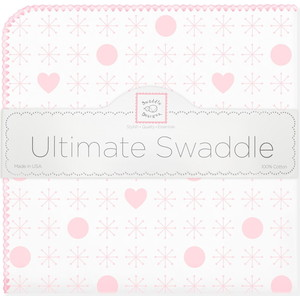 Пеленка фланель для новорожденного SwaddleDesigns Ultimate Jax & Hearts Pink ultimate sticker book kitten