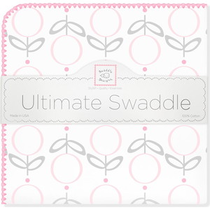 Пеленка фланель для новорожденного SwaddleDesigns Ultimate Lolli Fleur Pink ultimate sticker book kitten