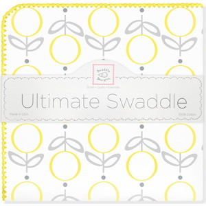 Пеленка фланель для новорожденного SwaddleDesigns Ultimate Lolli Fleur Yellow ultimate nutrition гейнер ultimate muscle juice revolution 2120 гр