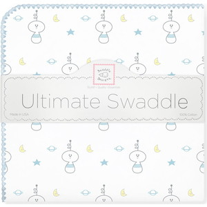 Пеленка фланель для новорожденного SwaddleDesigns Ultimate Space Friend Blue toys in space