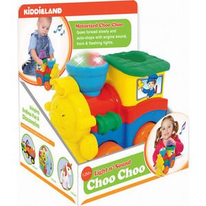Развивающая игрушка Kiddieland Паровозик со слоненком (KID 053462) кораблик kiddieland