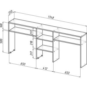 Надставка для стола Мастер Тандем-2 (орех) станок деревообрабатывающий мастер универсал 2500e 2 5квт эл блок
