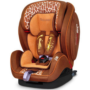 Автокресло Welldon Encore Fit SideArmor & CuddleMe ISO-FIX Giraffe Talk