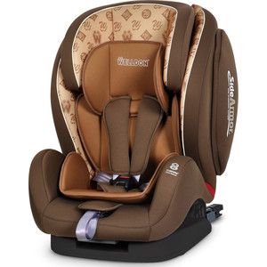 Автокресло Welldon Encore Fit SideArmor & CuddleMe ISO-FIX Hallmarks Brown автокресло группа 1 2 3 9 36 кг welldon sidearmor cuddleme bs07 bce3 3258в 713b 708 giraffe talk