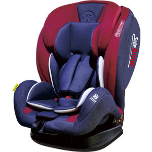 Автокресло Welldon SideArmor & CuddleMe BS07-BCE + Rubber Hoofpad Alphabet Blue автокресло welldon encore fit sidearmor cuddleme isofix