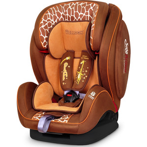 Автокресло Welldon SideArmor & CuddleMe BS07-BCE3 (3258B-713B-708) Giraffe talk автокресло welldon encore fit sidearmor cuddleme isofix