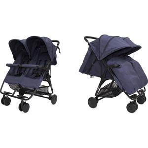 Прогулочная коляска Cozy для двойни Smart Navy Melange