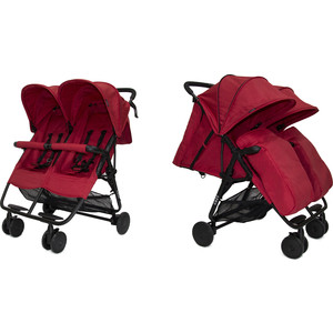 Прогулочная коляска Cozy для двойни Smart Red Melange коляска indigo charlotte duo ch 09 св коричн узор для двойни