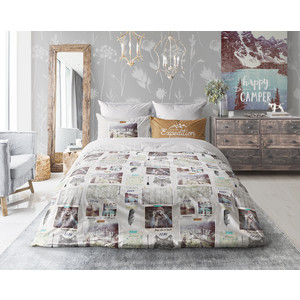 Комплект постельного белья Love me 2-х сп, перкаль, Traveler (703654)