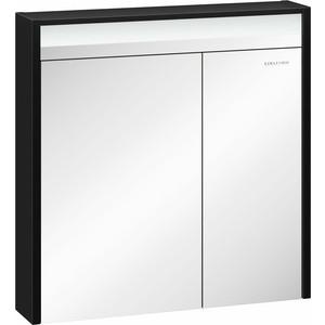 Зеркальный шкаф Edelform Карино 80, черный с эбони (2-751-43-S) цена 2017