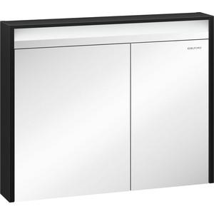 Зеркальный шкаф Edelform Карино 100, черный с эбони (2-750-43-S)  edelform concorde 100 махагон