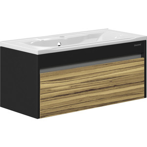 Тумба под раковину Edelform Карино 100, с ящиком, для раковины Прима 1000 мм, черный с эбони (1-747-43-PR100)  edelform concorde 100 махагон