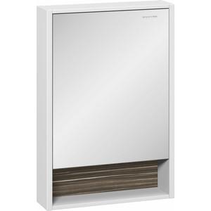 Зеркальный шкаф Edelform Белль 60, белый с макассар (2-761-44)